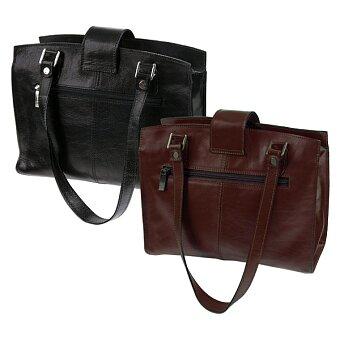 Obrázek produktu Luxusní kožená kabelka Triton Tosca - 370 x 280 mm, černá