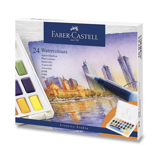 Vodové barvy Faber-Castell s paletkou 24 barev