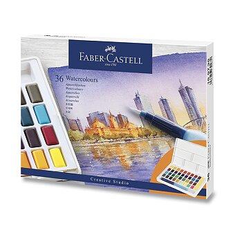 Obrázek produktu Vodové barvy Faber-Castell s paletkou - 36 barev