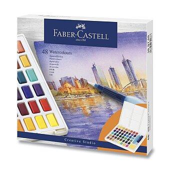 Obrázek produktu Vodové barvy Faber-Castell s paletkou - 48 barev