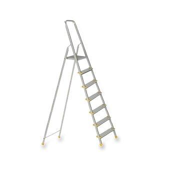 Obrázek produktu Hliníkové skládací schůdky 7 stupňů - výška plošinky 145 cm