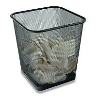 Hranatý kovový koš na odpad Cube
