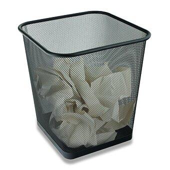 Obrázek produktu Hranatý kovový koš na odpad Cube - objem 15 l
