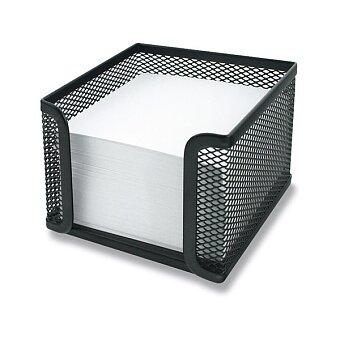 Obrázek produktu Drátěný zásobník na poznámkové lístky Metall Box - 10,5 x 10,5 x 8 cm, černý