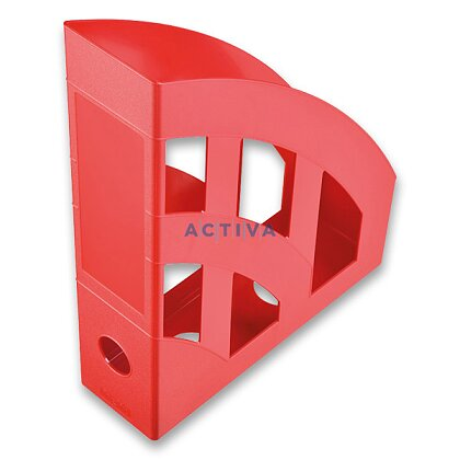 Obrázek produktu Helit Economy - plastový stojan na katalogy - červený