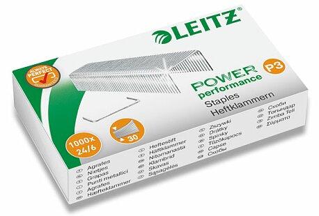 Obrázek produktu Drátky do sešívaček Leitz 24/6 - 1000 ks, na 30 listů