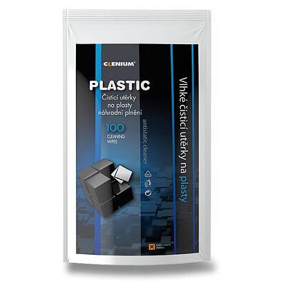 Obrázek produktu Clenium Surface Cleaner - vlhké čisticí utěrky na plasty - náhradní náplň, 100 ks utěrek