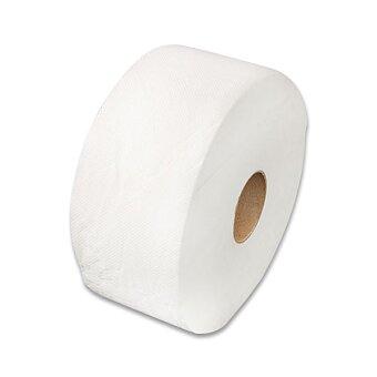Obrázek produktu Toaletní papír Jumbo z celulózy - 2 - vrstvý, průměr 24 cm, návin 180 m, 6 ks