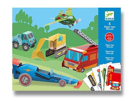 Obrázek produktu Origami skládačka Djeco - Dopravní prostředky
