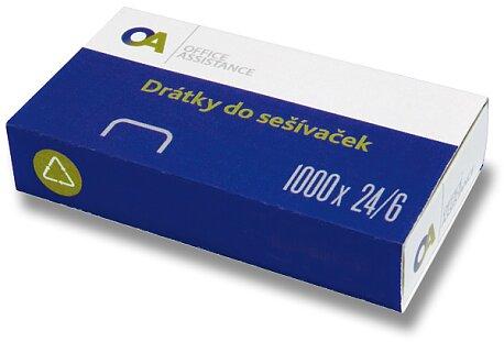 Obrázek produktu Drátky do sešívaček 24/6 - 1000 ks, na 20 listů
