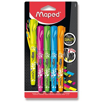 Obrázek produktu Zvýrazňovač Maped Fluo Peps Pen - sada 5 barev