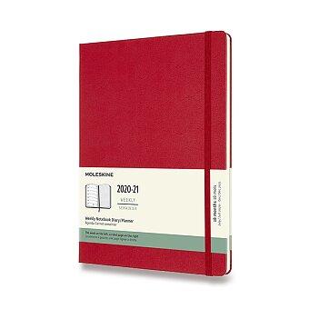 Obrázek produktu 18měsíční diář Moleskine 2020-21 - tvrdé desky - XL, týdenní, červený