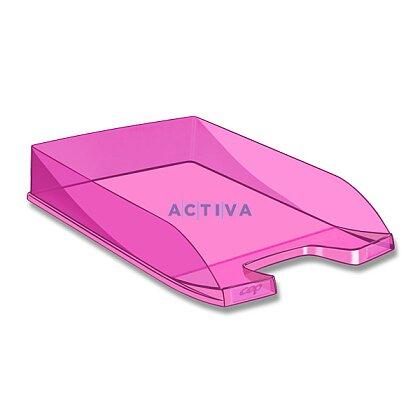 Obrázek produktu CEP First - kancelářský odkladač - transparentní, růžový