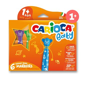 Obrázek produktu Dětské fixy Carioca Baby Teddy Marker - 6 barev