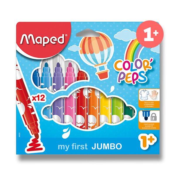 Dětské fixy Maped Color'Peps Jumbo 12 barev