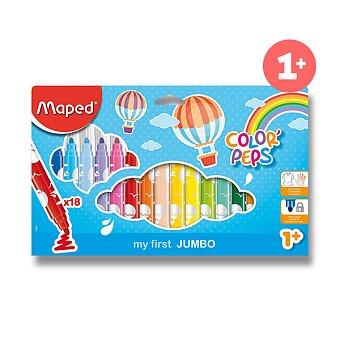 Obrázek produktu Dětské fixy Maped Color'Peps Jumbo - 18 barev