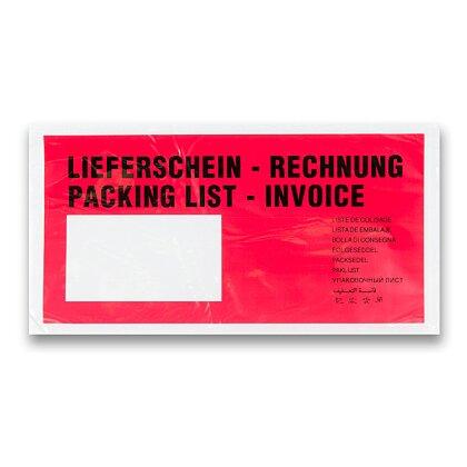 Obrázek produktu Expediční samolepicí obálka - 225 × 125 mm, DL, okénko vlevo, 100 ks
