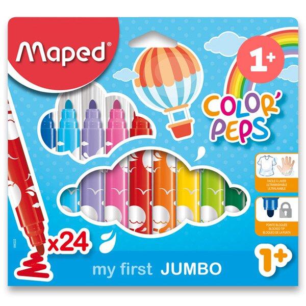 Dětské fixy Maped Color'Peps Jumbo 24 barev