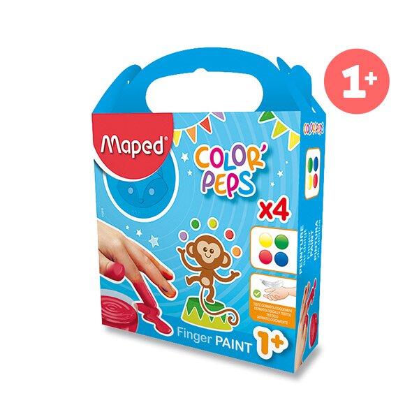 Prstové barvy Maped Color'Peps 4 barvy, 80 ml