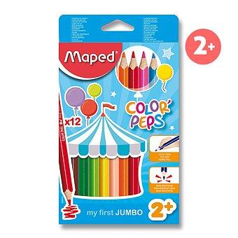 Obrázek produktu Pastelky Maped Color'Peps Jumbo - 12 barev, trojhranné