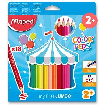 Obrázek produktu Pastelky Maped Color'Peps Jumbo - 18 barev, trojhranné