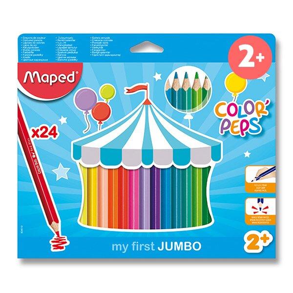 Pastelky Maped Color'Peps Jumbo 24 barev, trojhranné