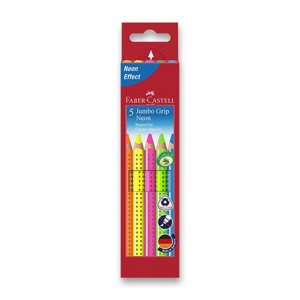 Pastelky Faber-Castell Jumbo Grip Neon 5 barev Faber-Castell