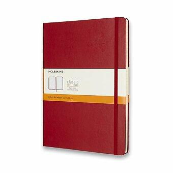 Obrázek produktu Zápisník Moleskine - tvrdé desky - XL, linkovaný, červený