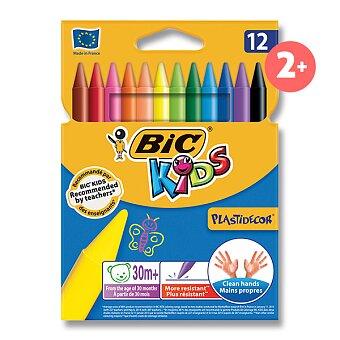 Obrázek produktu Plastové pastely Bic Kids Plastidecor - 12 barev