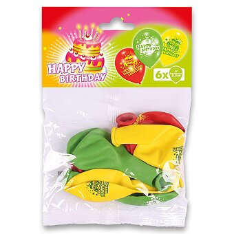 Obrázek produktu Nafukovací balónky - happy birthday, 6ks