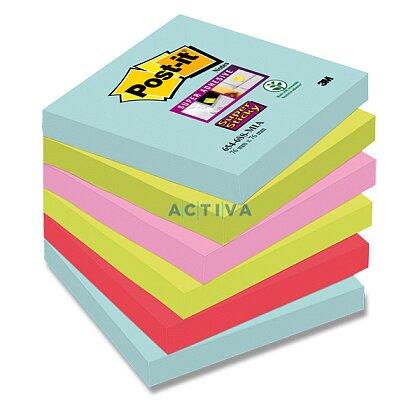 Obrázok produktu 3M Post-it SuperSticky - samolepiace bločky - 76 x 76 mm, 6 x 90 l., Miami