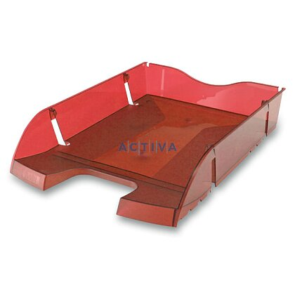 Obrázek produktu Helit Greenlogic - kancelářský odkladač - červený, transparentní
