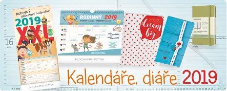 Kalendáře a diáře 2019