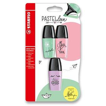 Obrázek produktu Zvýrazňovač Stabilo Boss Original Mini Pastel - sada 3 barev