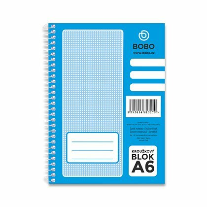 Obrázok produktu Bobo blok - krúžkový blok - A6, 50 l., čistý
