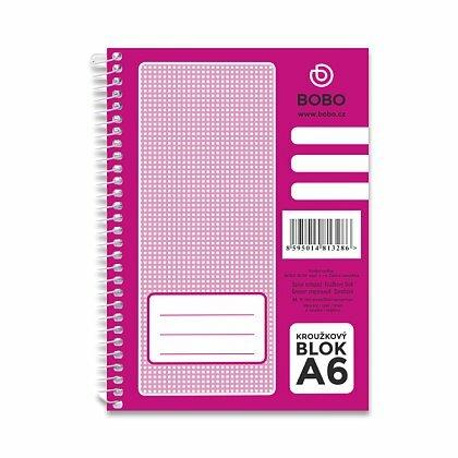 Obrázok produktu Bobo blok - krúžkový blok - A6, 50 l., linajkový