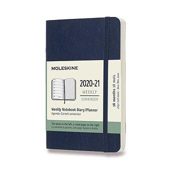 Obrázek produktu 18měsíční diář Moleskine 2020-21 - měkké desky - S, týdenní, výběr barev