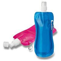 Donata - skládací sportovní láhev, transparentní, výběr barev