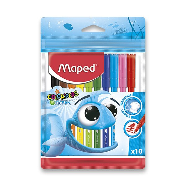 Dětské fixy Maped Color'Peps Ocean 10 barev