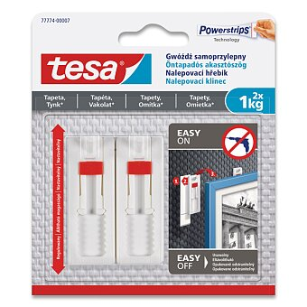 Obrázek produktu Nalepovací hřebík Tesa - nosnost 1 kg, 2 ks