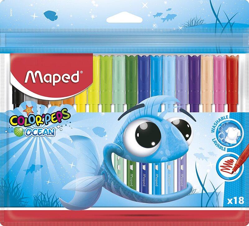 Dětské fixy Maped Color'Peps Ocean 18 barev