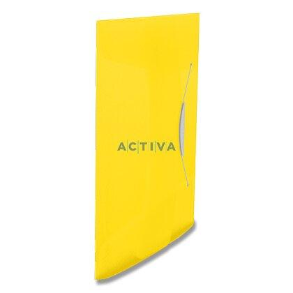 Obrázek produktu Esselte Vivida - spisové desky s gumičkou - A4, žluté