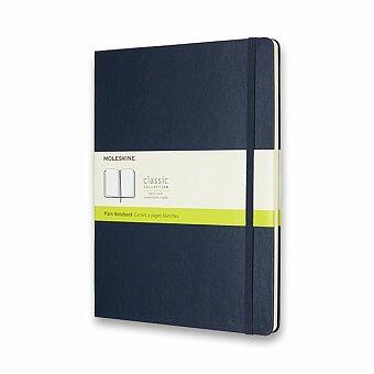 Obrázek produktu Zápisník Moleskine - tvrdé desky - XL, čistý, modrý