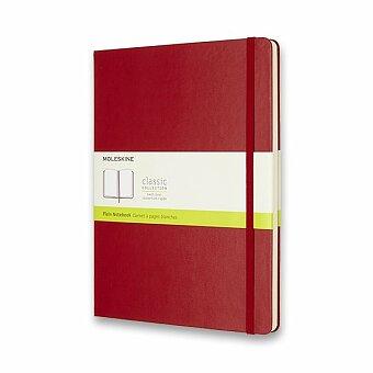 Obrázek produktu Zápisník Moleskine - tvrdé desky - XL, čistý, červený