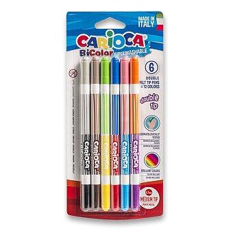 Obrázek produktu Dětské fixy Carioca Bi-Color - 12 barev