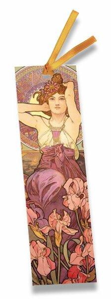 Set 2 záložek Art Nouveau Mucha 175 x 50 mm, mix motivů