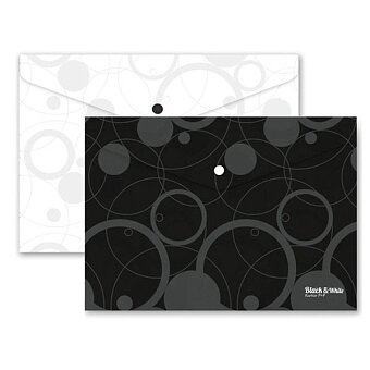 Obrázek produktu Spisovka s drukem PP Black & White - A4, bílá nebo černá