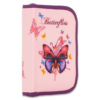 Obrázek produktu Penál Motýl - 1patrový, 2 chlopně