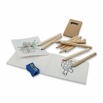 Obrázek produktu POLLOCK - sada dřevěných pastelek, ořezávátka a omalovánek
