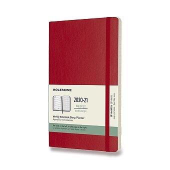 Obrázek produktu 18měsíční diář Moleskine 2020-21 - měkké desky - L, týdenní, červený